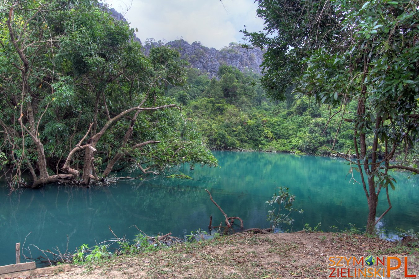 Tha Khaek Loop, Laos - Day 4 - Khoung Kong Leng lake (Evening Gong lake)